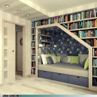 I wouldn't be mad if i had to live here. / Bookcase Bed