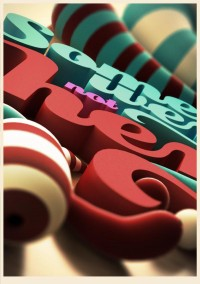 Illustration / 3D Typography on the Behance Network — Designspiration