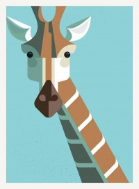 Illustration / Giraffe Portrait — Designspiration