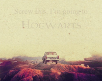 i'm going to hogwarts