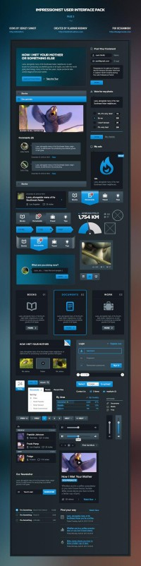 Impressionist User Interface Pack on