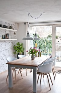 Interior design / The Design Chaser: Dining Rooms | Bright, White — Designspiration