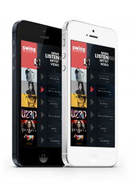 iphone Music App. Concept on