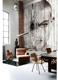 """Jaw Dropping Interiors & Exteriors / Antonio Mora artwood _""""Woodboy"""" collage over wood planks 280x 320 cms, Para solicitar información: pil4r@routetoart.com"""