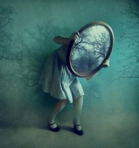 Just a tiny bit of Magic, please! / les miroirs / mirrors II by ~victoriaaudouard on deviantART