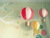 Kids / DIY paper lantern hot air balloon >> SO cute!