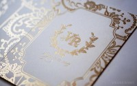 Laser Cut Lace inspired Wedding Invitation on