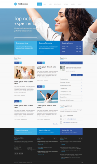 MediCenter – Responsive Medical Health Template on