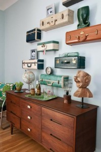 My Nest w/ My Sweet / vintage suitcases cut as shelves