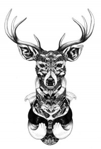 My obsessions: if you know me...it's a problem lol / Mandala deer. #tattoo #tattoos #ink