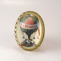My Wish List 2012 / Farewell vintage inspired hot air balloon brass cameo Cocktail Ring adjustable victorian steampunk boho. $24.00, via Etsy.