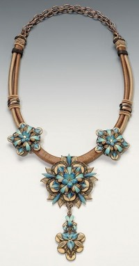 Necklace | Lynne Ann Schwarzenberg. 'Beautifully ... | Polymer Clay