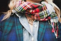 Oh So Stylish. / Plaid. :)