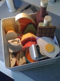 Paper food for Womens Health on