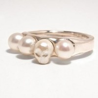 Pearl Skull Ring, E.M. Jewelry | Need