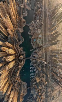 Dubai Marina pictures from above by AirPano .