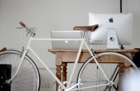 Pilot / Light grey bike, brown accents — Designspiration
