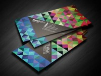 Pixel Mosaic Business Card on
