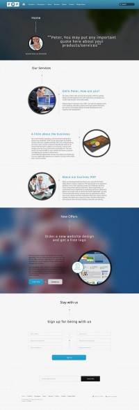 POP Landing page on