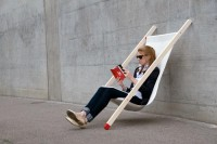 Curt deck chair with no back legs by Bernhard Burkard.