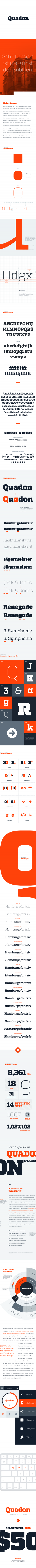 Quadon Typefamily on