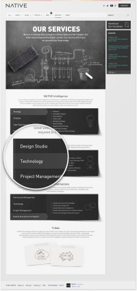 Redesign of a digital agency's website on