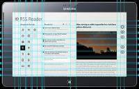 RSS Reeder, Windows 8 UI mobile application on