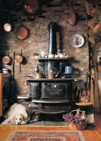 Rural Life / wood fired cooking stove