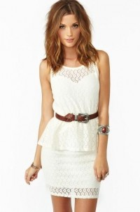 S T Y L E .M E. P R E T T Y / Laced Peplum Dress