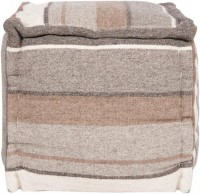 sit down! / The rustic feel of this square pouf in neutral warm tones is the perfect addition to your rustic décor.