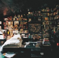 Sleeping in a library, love the book smell. | House Perfection.