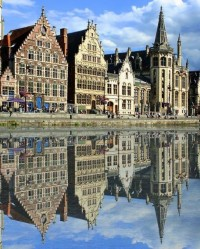 Snap My Fingers & Be In Beautiful A Place / Mix of new and old Medieval Architecture, Ghent, Belgium
