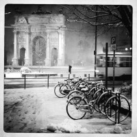 Snow in Milano 2012 | Bicycles