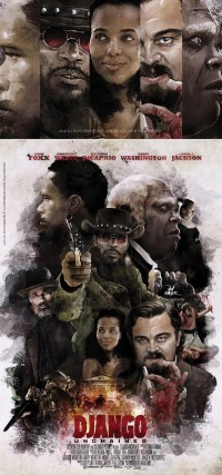 "The Art ""Django Unchained' in Movie Poster's on"