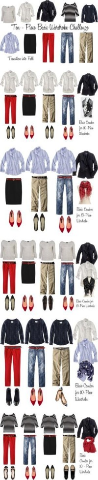 "the simple life / ""10 - Piece Basic Wardrobe Challenge"" by bluehydrangea"