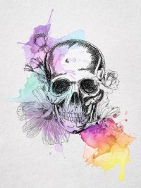 THESE ARE A FEW OF MY FAVOURITE THINGS / Skull And Flowers Art