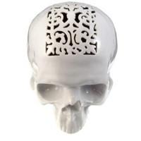 Things I Love / Studio Pirsc Porcelain Filigree Skull Money Box $275