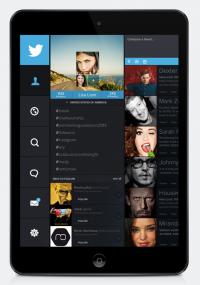 Twitter ipad edition on