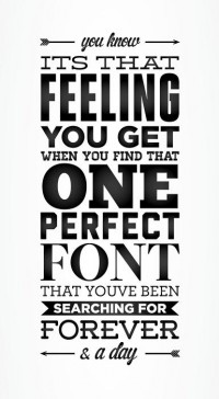 Type & Fonts / the perfect font