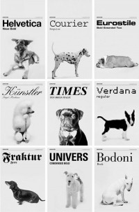 typographic inspirations / These Dogs Could Teach You a Thing or Two About Typography #typography...