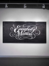 Typography / BryanPatrickTodd_EverybodyMatters_b — Designspiration