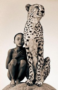 Unexpected / child and leopard
