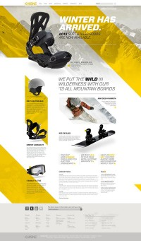 UX / Khione Snowboard Website on Behance — Designspiration