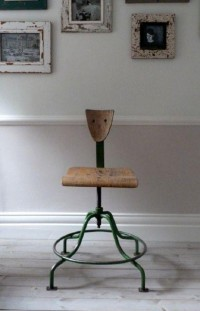 Vintage Industrial Factory Chair / Stool | eBay | To Shelter