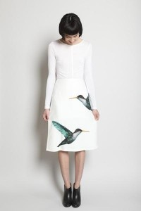 ? ~ Wanted Wearables ~? What a Girl Wants... ? What This Girl needs... ? My Wish list ? / JIL SANDER Lapis Hummingbird Skirt via totokaelo