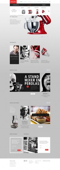 Web Design / KITCHEN AID - Caio Rogério