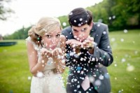 Weddbook ? Blowing confetti into the camera, ... | wedding photography