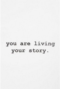 words...just words.... / UrbanOutfitters.com > You Are Living Your Story Wall Decal