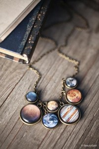 You'll Know It's Me From A Mile Away / Solar System necklace
